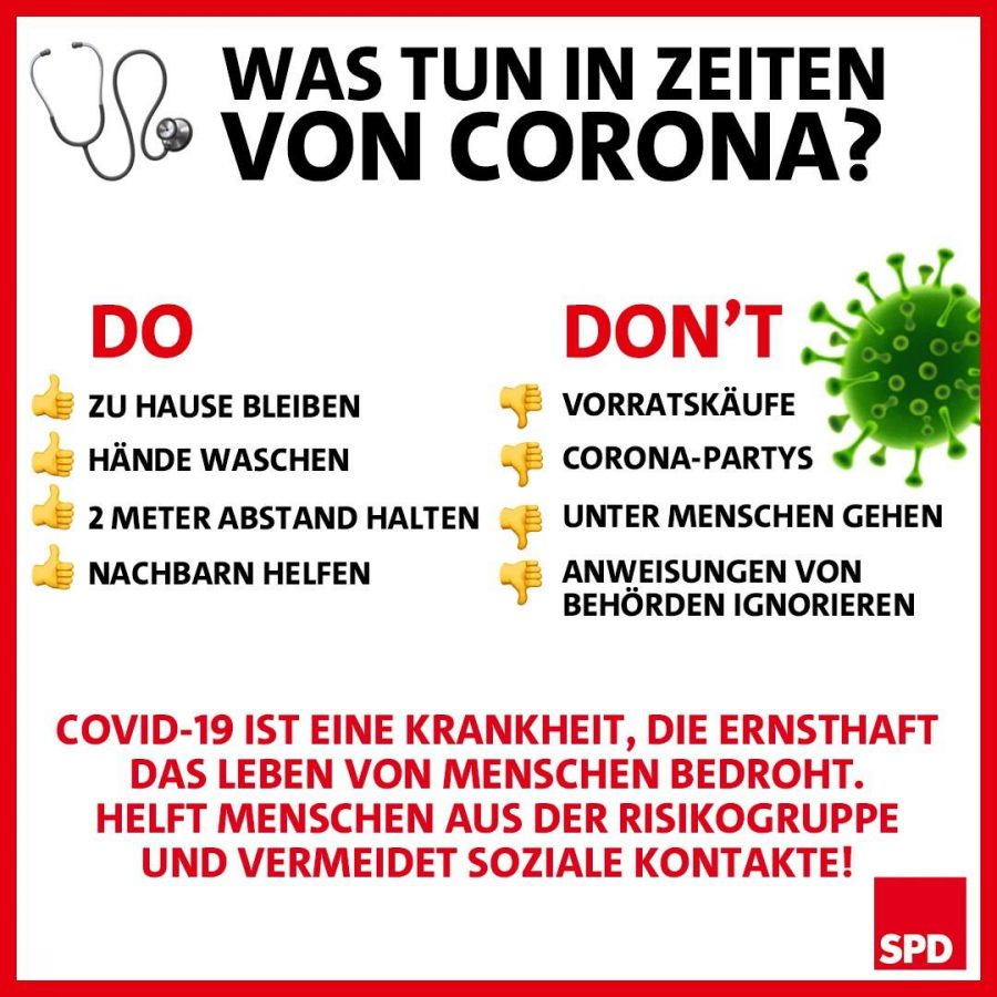 Was tun in Zeiten von Corona